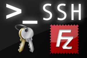 sftp filezilla key